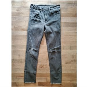 H&M High Waist Slim Ankle Jeans